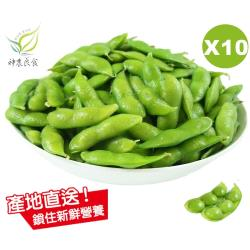 【神農良食】農業奧斯卡原味毛豆_10包組_(400公克±10公克/包)