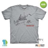 摩達客-預購-美國The Mountain保育系列 無家可歸花豹 兒童灰色純棉短袖T恤