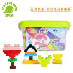 Playful Toys 頑玩具 積木桶 7106(成長積木 益智動腦 早教 拼裝 兒童禮物 台灣製造MIT)
