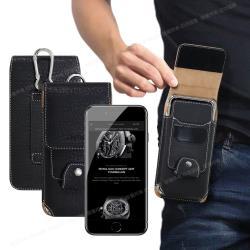 CityBoss for iPhone SE2 4.7吋 潮流紳士插卡腰掛皮套-送掛勾