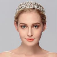 【米蘭精品】髮飾水鑽皇冠-鑲鑽鏤空合金髮箍頭飾2色73xr47