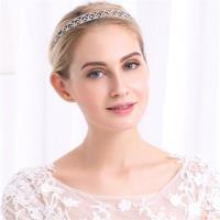 【米蘭精品】髮飾水鑽皇冠-閃亮合金髮箍歐美頭飾73xr39
