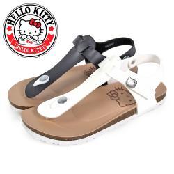 HELLO KITTY 凱蒂貓金屬飾釦T型沾黏式夾腳涼鞋O-20357