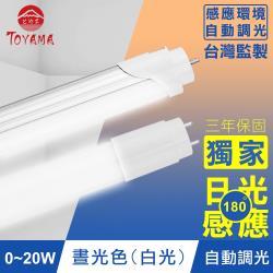TOYAMA特亞馬 0~20W LED日光感應自動調光節能燈管(白光)