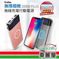 aibo 無限極緻 20000PLUS無線充電Qi行動電源 鐵灰 BPN-TX100K(車麗屋)