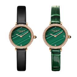 英國Lola Rose 耀眼孔雀綠點綴水鑽淑女手錶