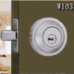 『WACH』花旗門鎖 W103銀 / W1191金 輔助鎖(鎖閂60mm)卡霸鎖 補助鎖 單鎖頭 單面輔助鎖 硫化銅門鎖