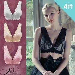 4件組【Dr.Bras】韓國夫人前釦無重力內衣(買2件送2件_超值4件組)4色各1