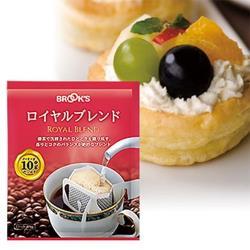 【日本BROOK'S布魯克斯】皇家綜合25入獨享袋(掛耳式濾泡黑咖啡)