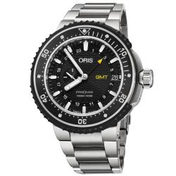 ORIS 豪利時 ProDiver GMT雙時區千米潛水錶-黑/49mm 0174877487154-0782674PEB
