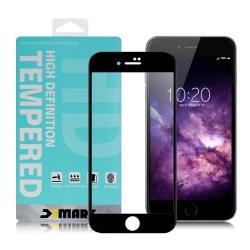 Xmart for iPhone 6S plus / 6 plus 用 高透光2.5D滿版玻璃貼- 黑 2入
