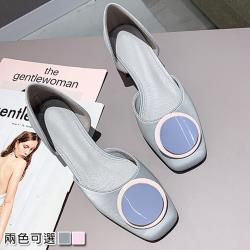 【Alice 】 (預購)獨家款百搭造型配色方頭鞋