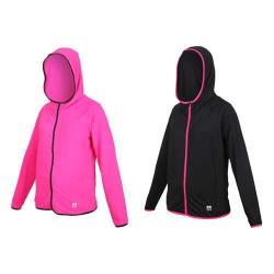 FIRESTAR 女彈性連帽防曬外套-慢跑 路跑 連帽外套 排汗 反光