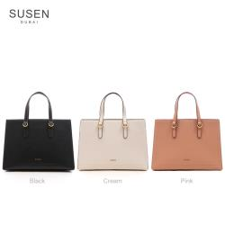 【SUSEN】訂製款簡約方形手提包-中(多色任選)