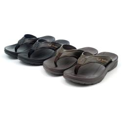 【 101大尺碼女鞋】24-30碼 MIT防水夾腳輕量室內外兩穿拖鞋-黑色/咖色-099050209049-03