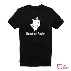 Minidesign-happy an Apple潮流設計短T 五色