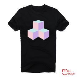 Minidesign-立體幾何方形潮流設計短T 五色