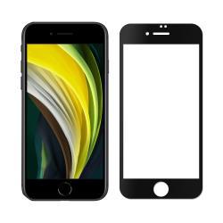 【SHOWHAN】iPhone SE2/7/8 美國玻璃材質 3D曲面鋼化玻璃保護貼 黑色