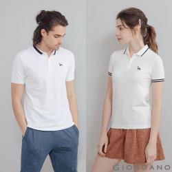 GIORDANO  男/女款素色北極熊刺繡POLO衫 (多色任選)