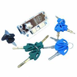 6800青葉牌鋁門鉤鎖 1200型鋁門鎖(五面/心動鑰隨機出貨匙 鎖心長38mm)拉門鉤 拉門鎖 鉤鎖 紗門鎖 落地門鎖