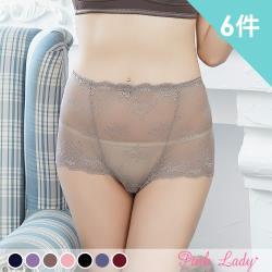 Pink Lady 古堡祕愛 性感花漾蕾絲中高腰內褲846(6件組)