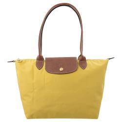 Longchamp Le Pliage 折疊長揹帶肩提包.香蕉黃 #2605