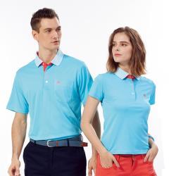 Abel Foxs Sports藍色線條領女版短袖POLO衫-WER604-05