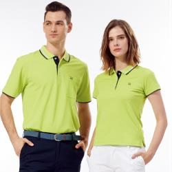 Abel Foxs Sports蘋果綠黑邊女版短袖polo衫-AFQ207-04