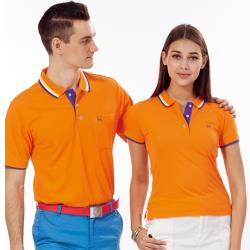 Abel Foxs Sports橘色紫邊女版短袖POLO衫-AFQ206-02