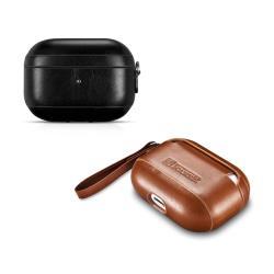 ICARER Apple AirPods Pro 復古側耳掛繩真皮保護套(精裝限量版)