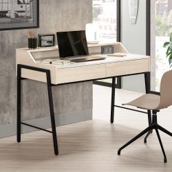 Boden-妮絲4尺二抽仿石面書桌/工作桌