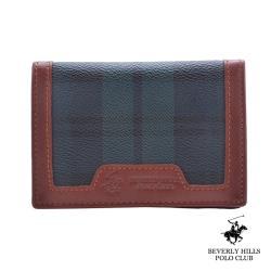 B.H POLO.比華利保羅-綠格釦式零錢卡夾包