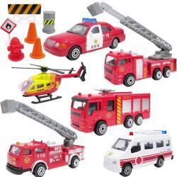 消防車玩具組玩具車小汽車模型玩具組6入 937558【卡通小物】