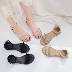 【Alice 】 (預購)  獨家價甜心花邊美腿涼鞋