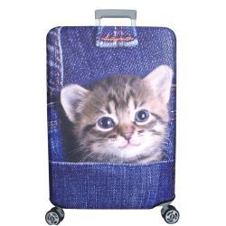 新款拉鍊式行李箱防塵保護套 行李箱套(口袋貓21-24吋)