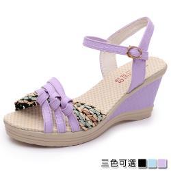 【Alice 】 (預購)  獨家價瘋搶舒適美腿坡跟涼鞋
