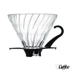 TCoffee HARIO-V60黑色02玻璃濾杯