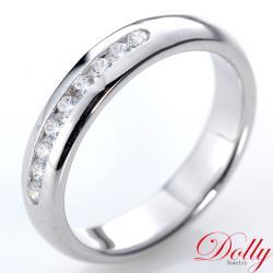 Amor  求婚戒 晶鑽 白K金銀飾戒指(058)