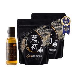 芝初  高鈣黑芝麻粉x2+冷壓芝麻油105ml