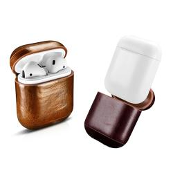 ICARER Apple AirPods 復古油蠟真皮保護套