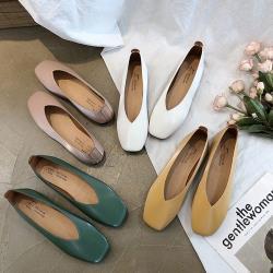 【Alice 】 (預購) 柔美愛戀簡約幸福方頭鞋