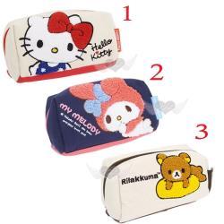 HELLO KITTY美樂蒂懶懶熊帆布化妝包筆袋收納包 3選1 72406257【卡通小物】