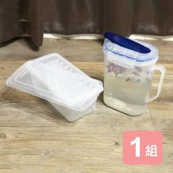 真心良品 皇家拿鐵梅莎冷水壺(1.8L)+附蓋大塊製冰盒-2入組