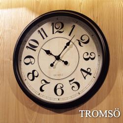 TROMSO-法式香榭_時尚大數字黑白時鐘