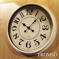 TROMSO-法式香榭_時尚大數字刷白時鐘