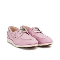 Timberland 女款櫻花粉皮革帆船鞋A1YRCT57