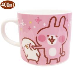 卡娜赫拉馬克杯杯子兔兔戳P助款400ml 234109【卡通小物】