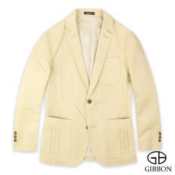 GIBBON 舒適彈力休閒西裝外套‧卡其