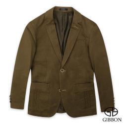 GIBBON 舒適彈力休閒西裝外套‧咖啡色