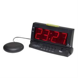 【銀寶生活】可調式桌上型震動鬧鐘(附震動器)